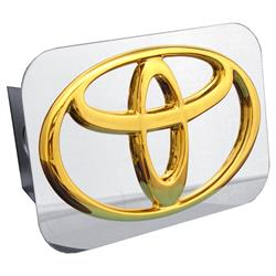 Automotive Gold - Hitch Cover, Gold on Chrome (Toyota Logo)