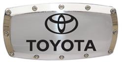 Elite - Billet Hitch Cover with Allen Bolts, Chrome (Toyota Name and Logo)