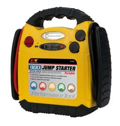 Performance Tool - 900 Peak Amp Portable Jumpstarter with Compressor