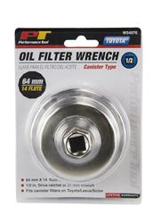 Performance Tool - Canister Style Oil Filter Wrench
